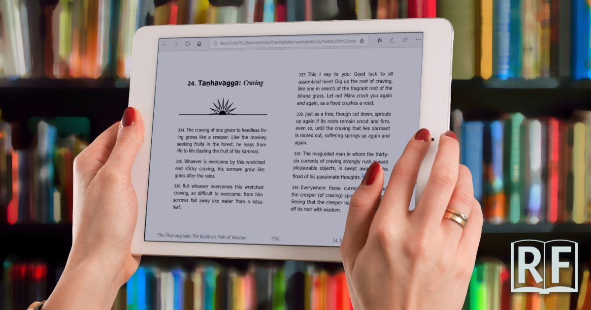 How to use an ebook reader like a Kindle for sutta reading practice