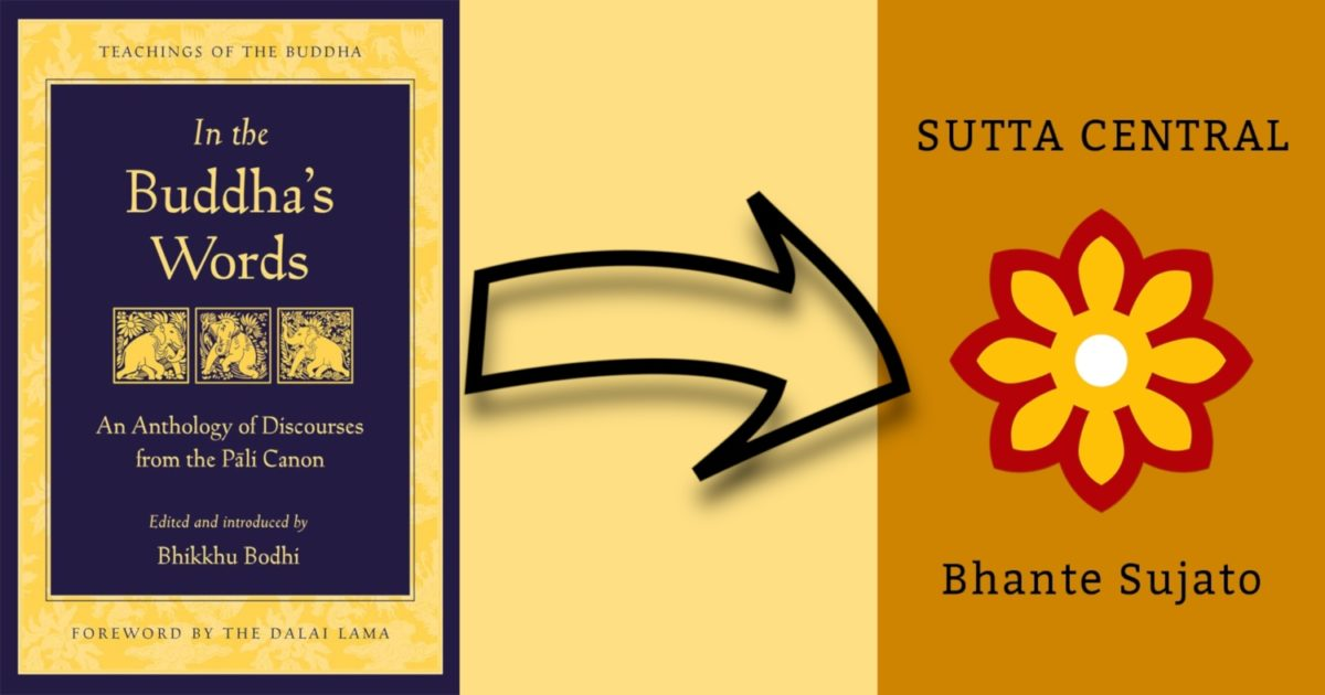 In the Buddha's Words:  An Anthology of Discourses from the Pali Canon Linked to SuttaCentral.net