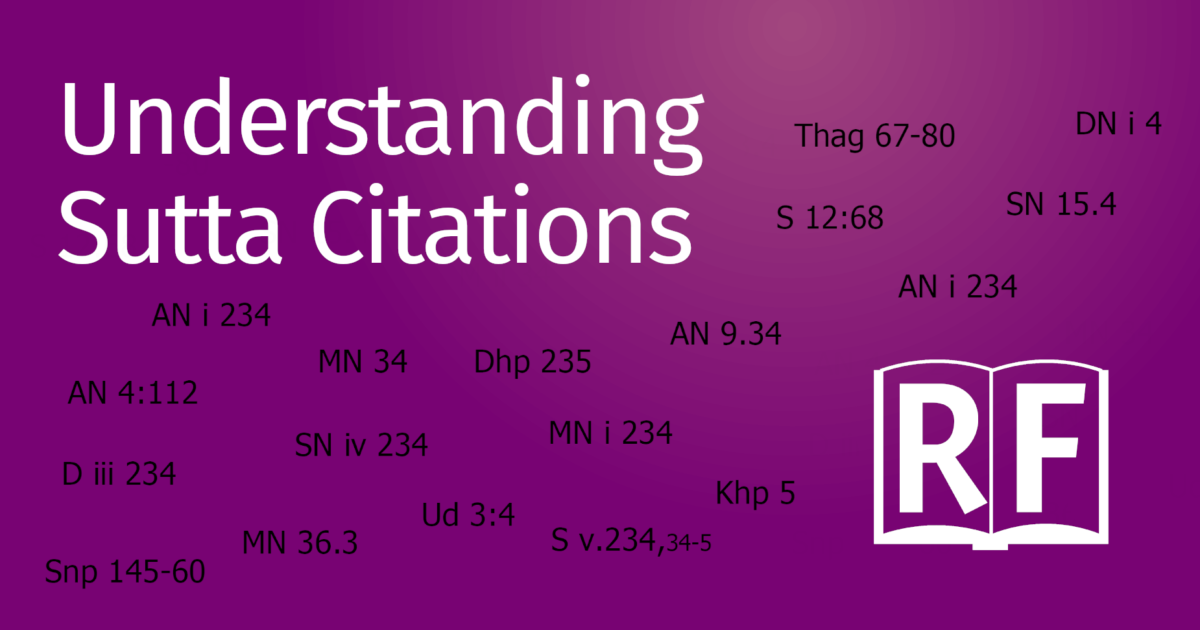 Understanding Sutta Citations