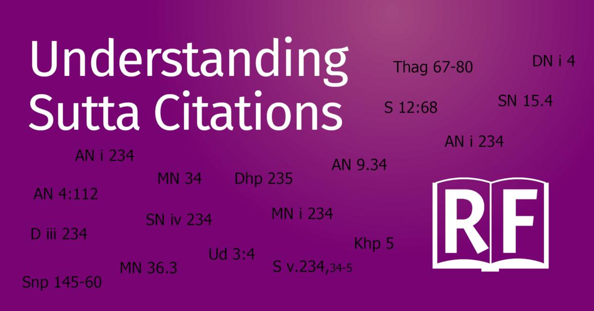 Understanding Sutta Citations